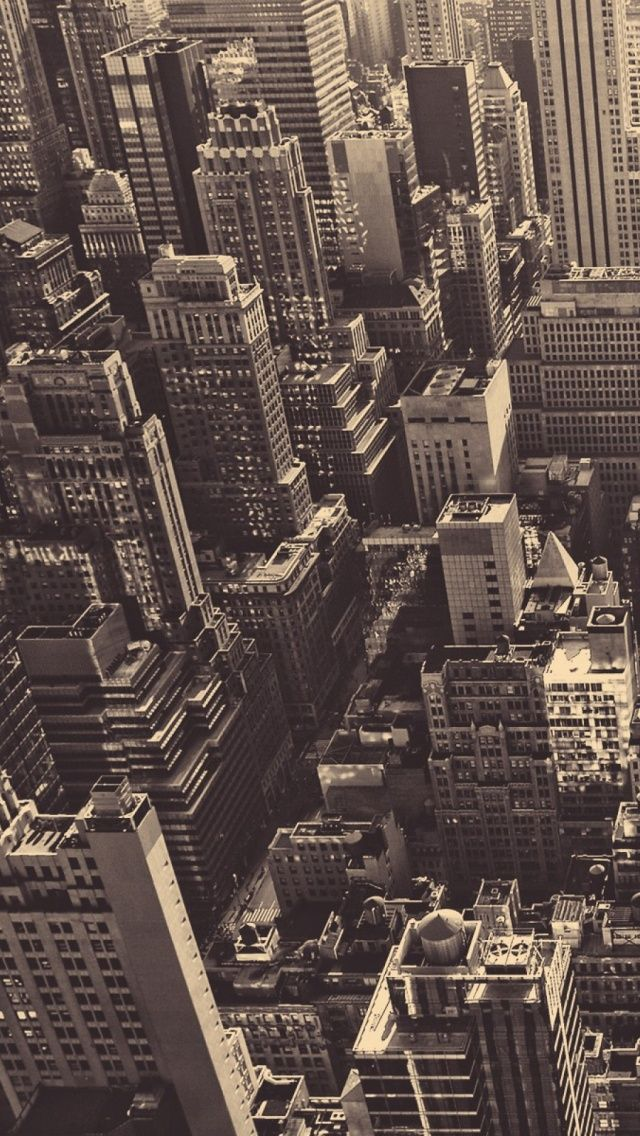 Vintage New York City Aerial View iPhone 5 Wallpaper iPod 640x1136