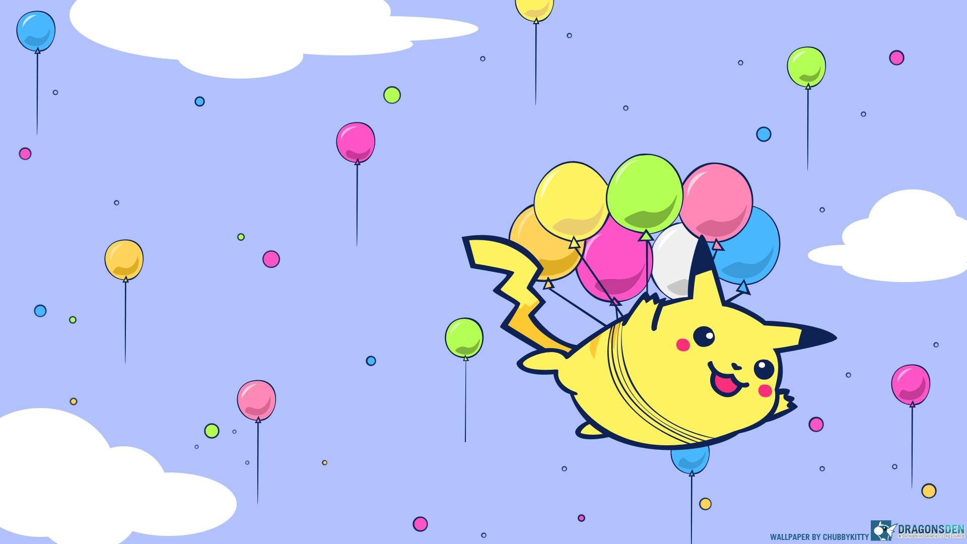 Pikachu Wallpaper Wallpaper of Pikachu and Balloons 1920x1080