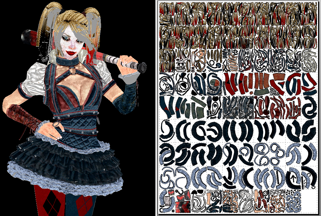 Free download Harley Quinn Arkham Knight Papercraft Unfold by