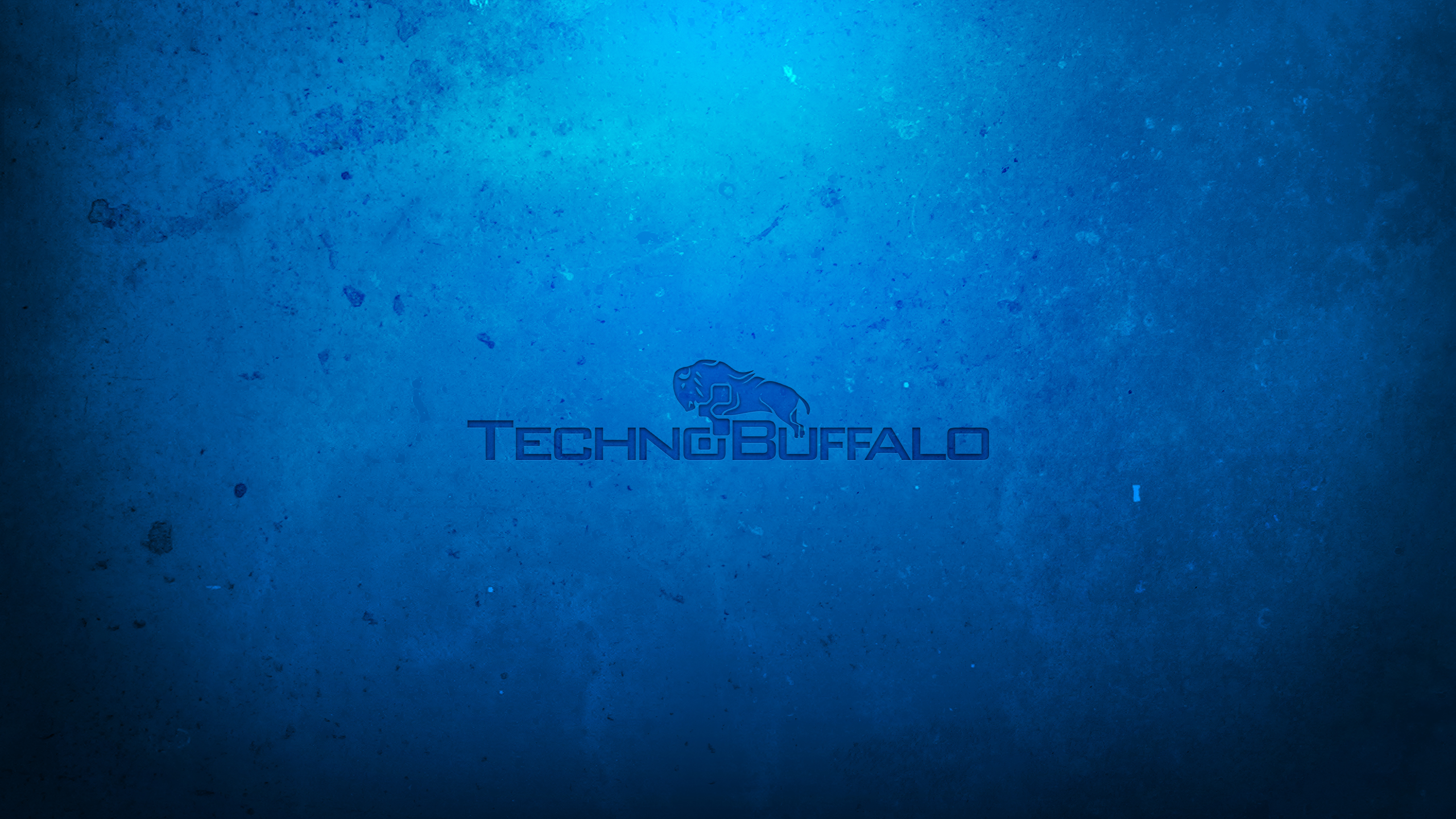 Blue Technobuffalo Wallpaper 2560x1440