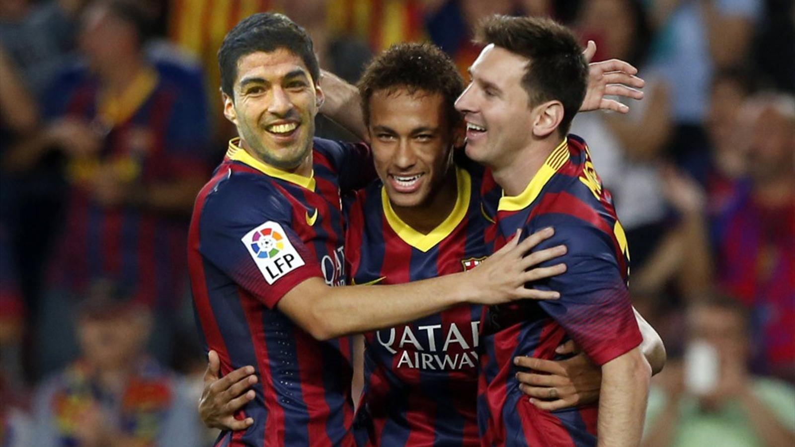Luis Enrique is excited to see Messi Neymar and Suarez in action 1600x900