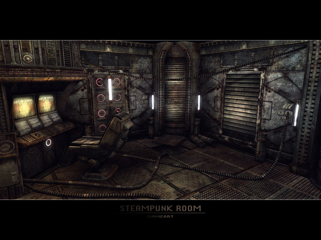 Steampunk Room by GeneralPeer 1024x768
