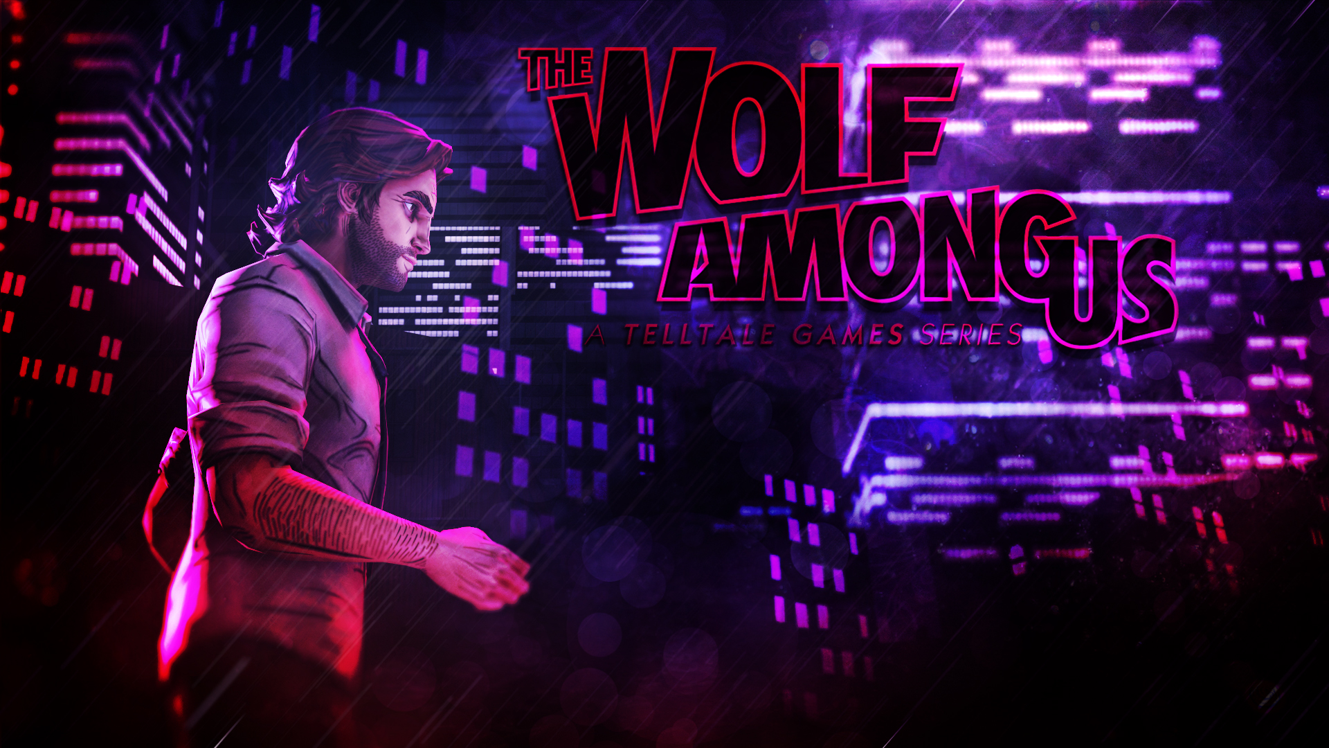 The Wolf Among Us background   A Walk in the city by Mrjimjamjamie on 1920x1080