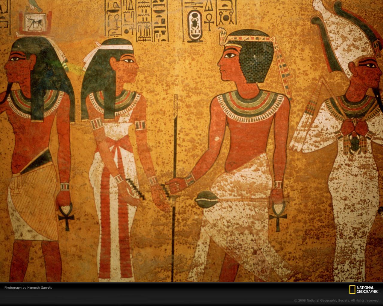 Egyptian pharaoh wallpaper wallpapersafari for Egyptian mural wallpaper
