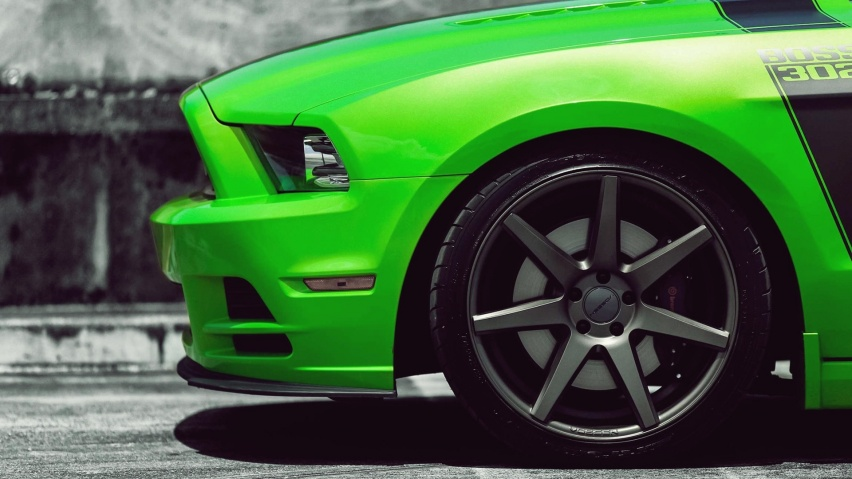 852x480 Green Shelby Mustang desktop PC and Mac wallpaper 852x479