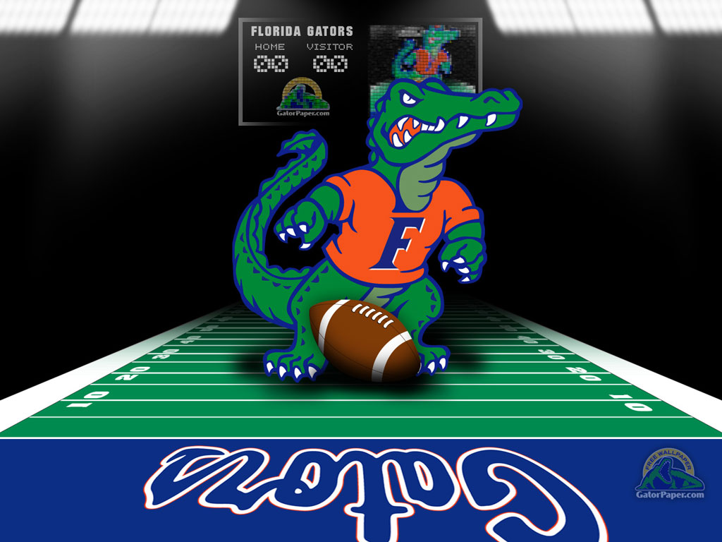 Gators   Football Field GatorPaper   Sports Desktop Wallpaper 1024x768