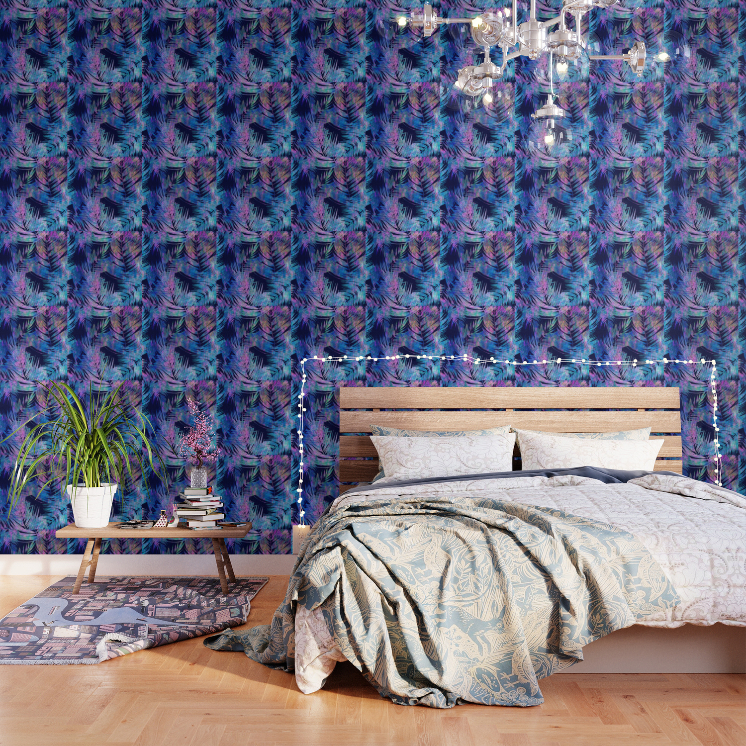 Waikiki Tropic Blue Wallpaper by schatzibrown Society6 1500x1500