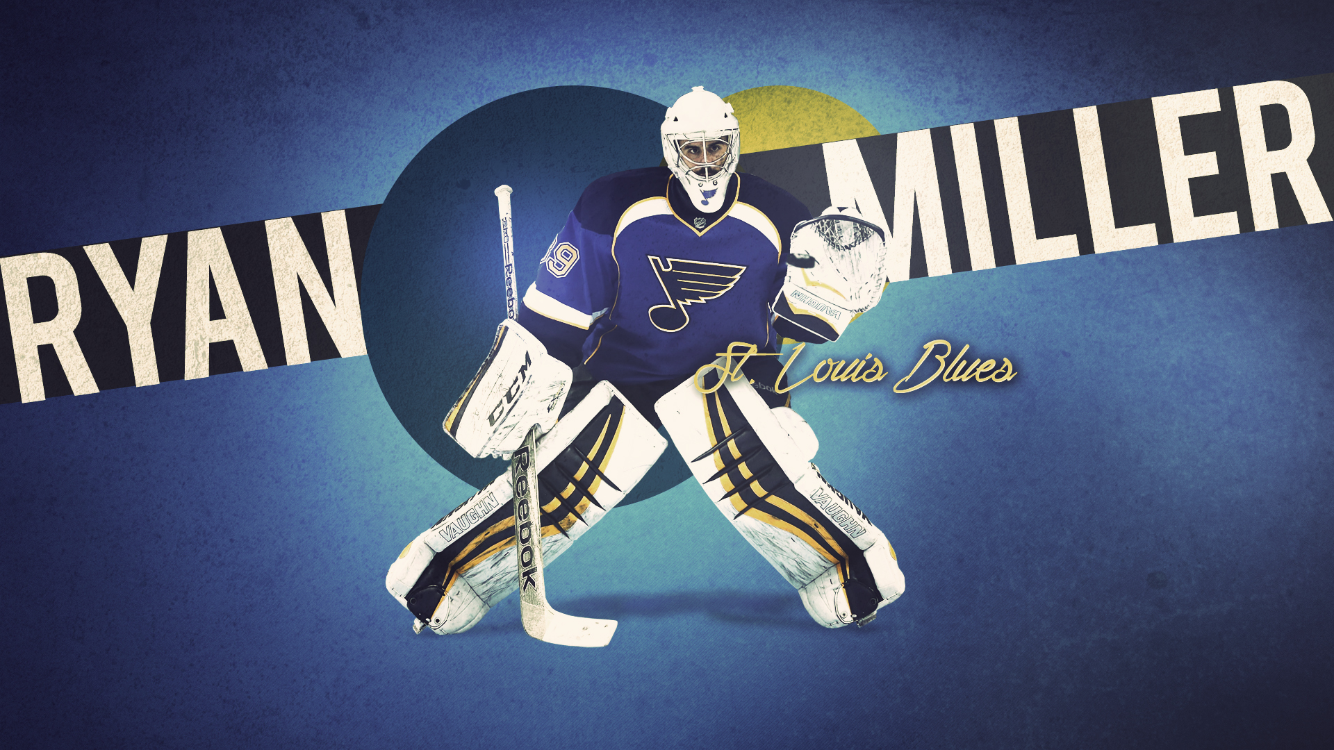 wallpaper featuring goaltender Ryan Miller with the St Louis Blues 1920x1080