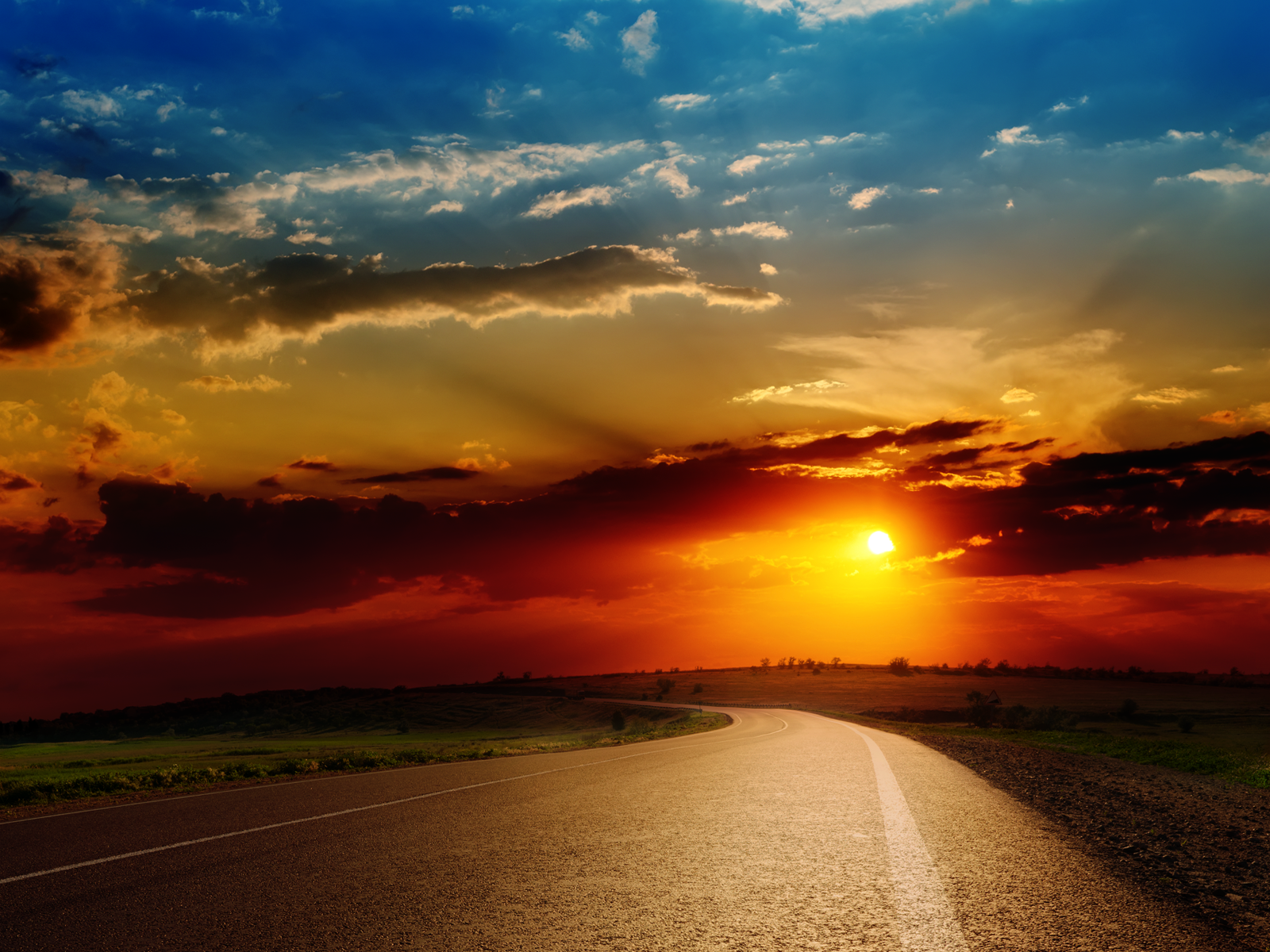 Sunset Road Trip America wallpaper Conservatives Conspiracy 1600x1200