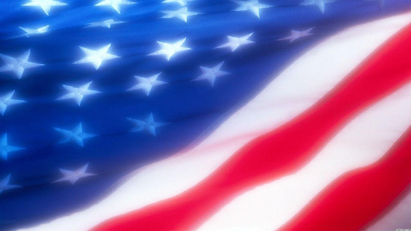 USA Flag Backgrounds 1366x768