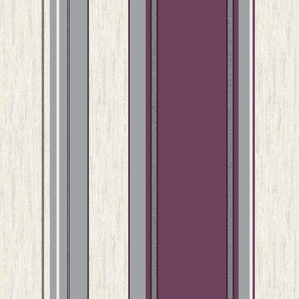 Colour Purple White and Silver Design Style Striped Wallpaper 1000x1000