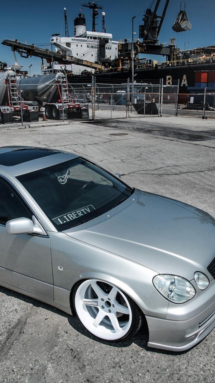 Lexus gs gs300 slammed cars wallpaper 750x1334