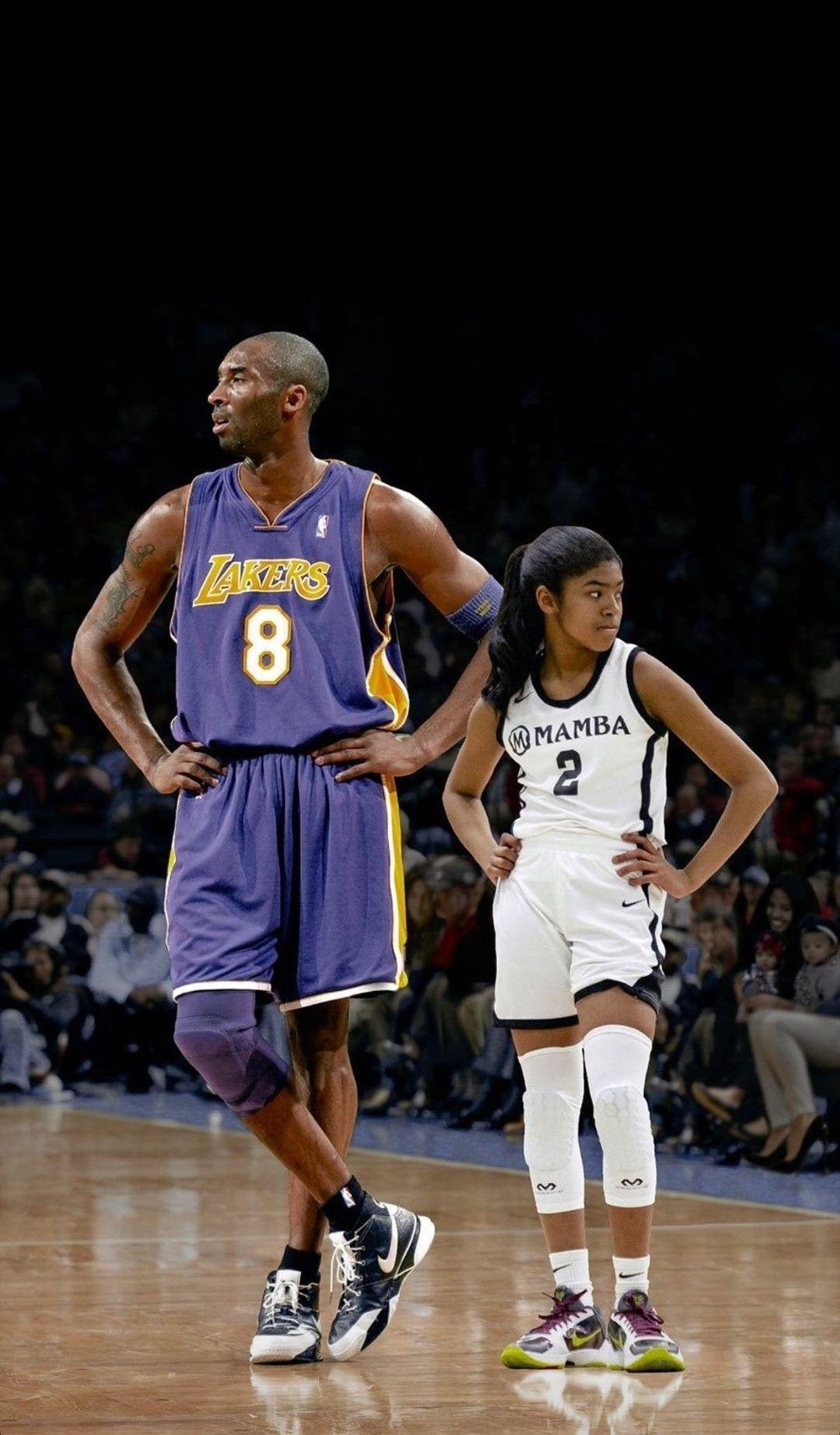 Kobe and Gigi Bryant wallpaper Kobe bryant pictures Lakers kobe 1080x1845