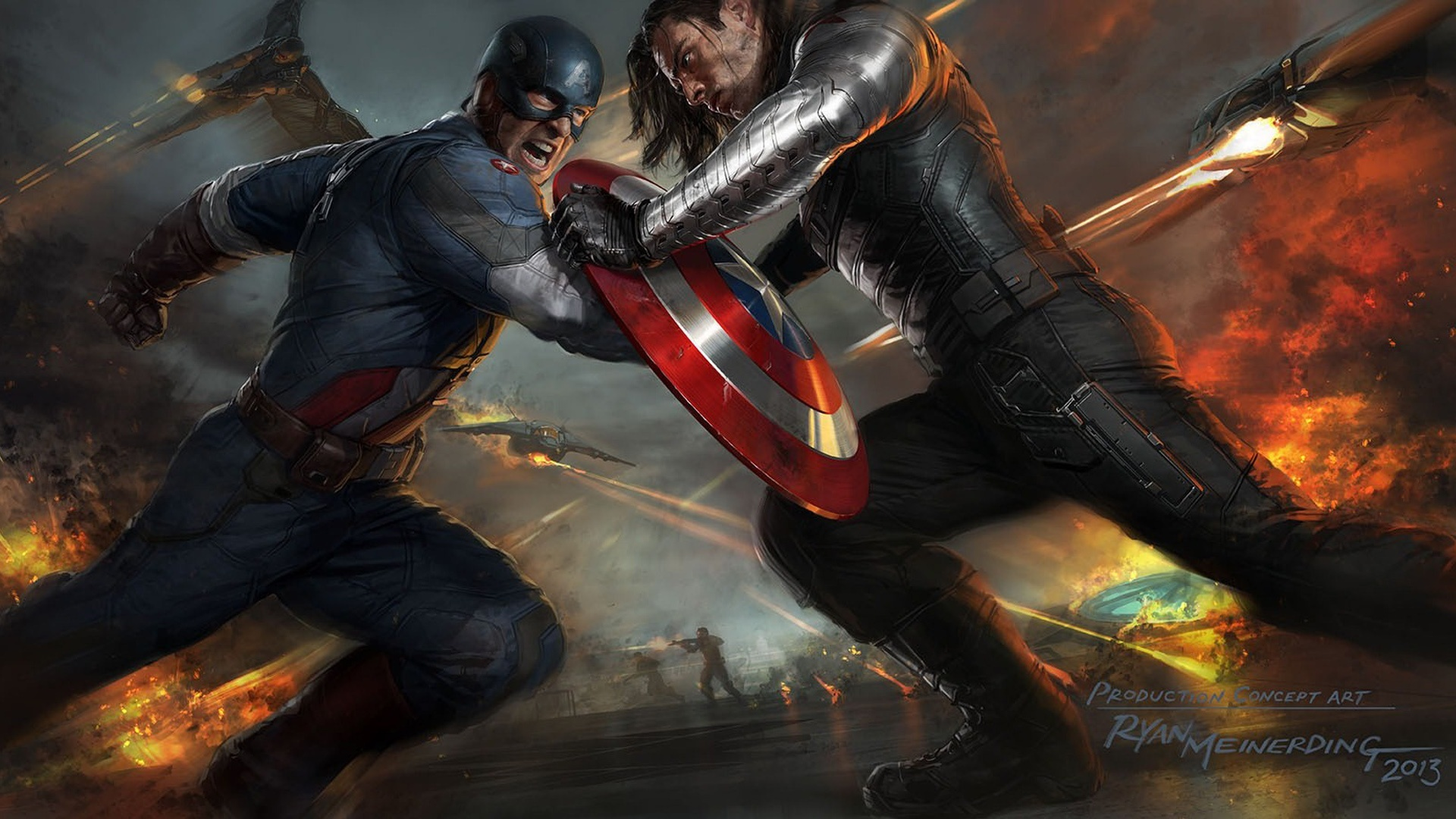 Captain America The Winter Soldier Artwork Wallpapers HD Wallpapers 1920x1080