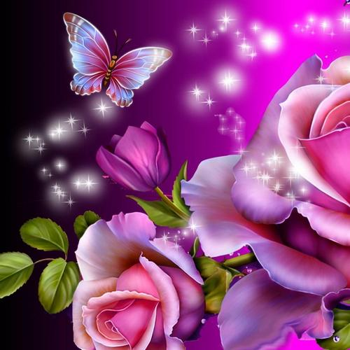 Butterfly magic 3D live wallpaper for Android Butterfly magic 3D 500x500
