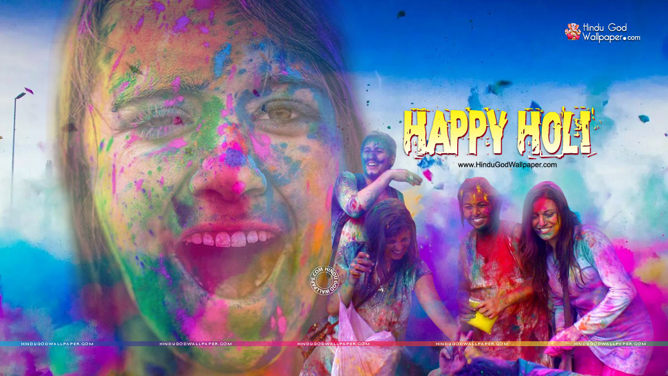 Latest Holi Wallpapers 2021 Photos Images Download 1366x768