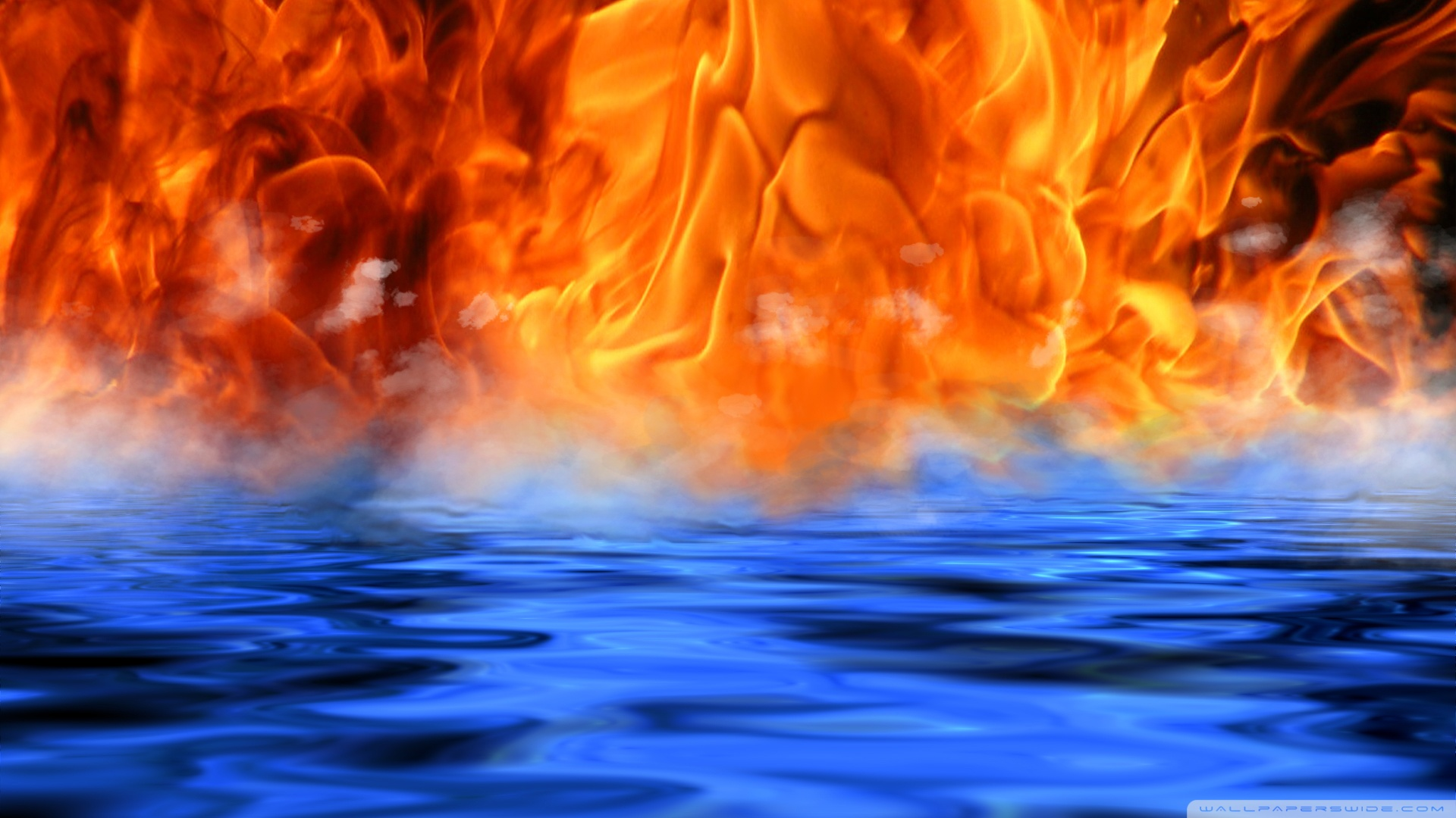 Fire Water Meet Wallpaper 1920x1080 Fire Water Meet 1920x1080