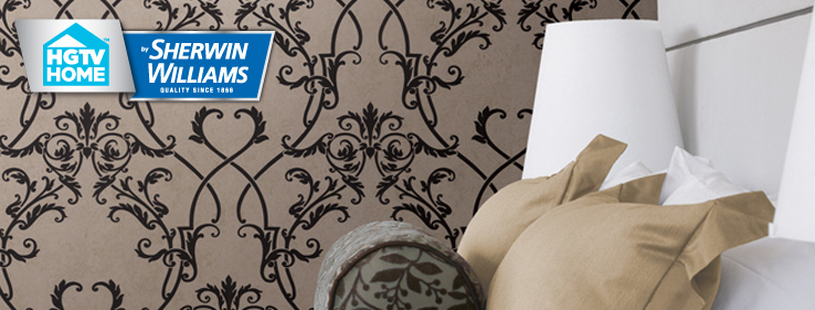Traditional Twist Wallpaper Collection   HGTV HOME By Sherwin 738x281