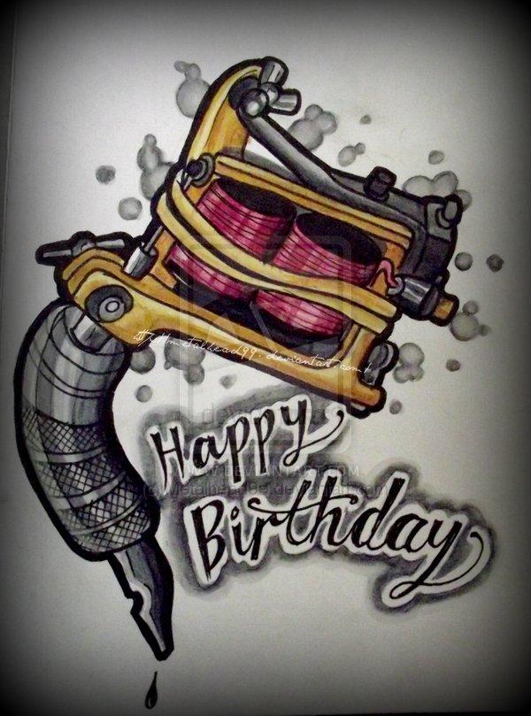 Поздравления с днём рождения для тату мастера 46