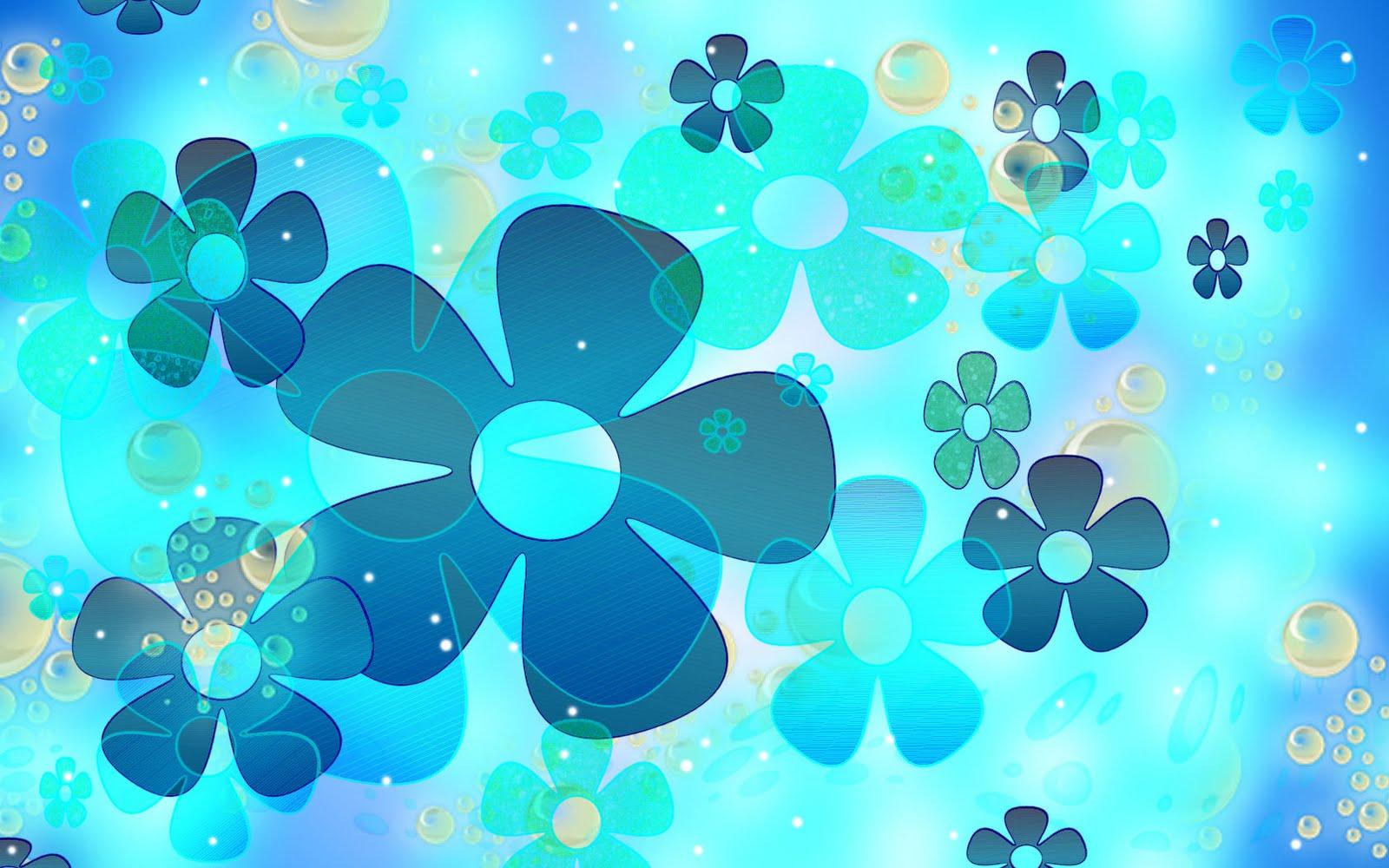 Light Blue Flower Wallpaper WallpaperSafari