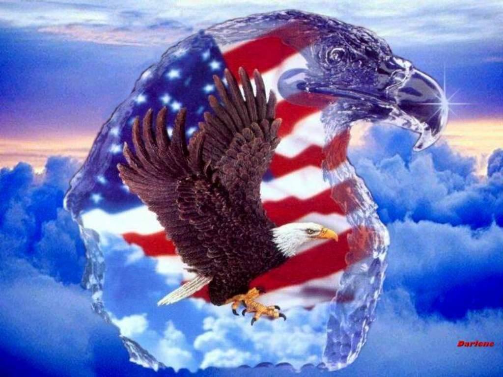 bald eagle and american flag wallpaper 1024x768