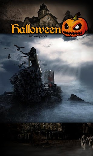 View bigger   Witch Halloween Live Wallpaper for Android screenshot 307x512