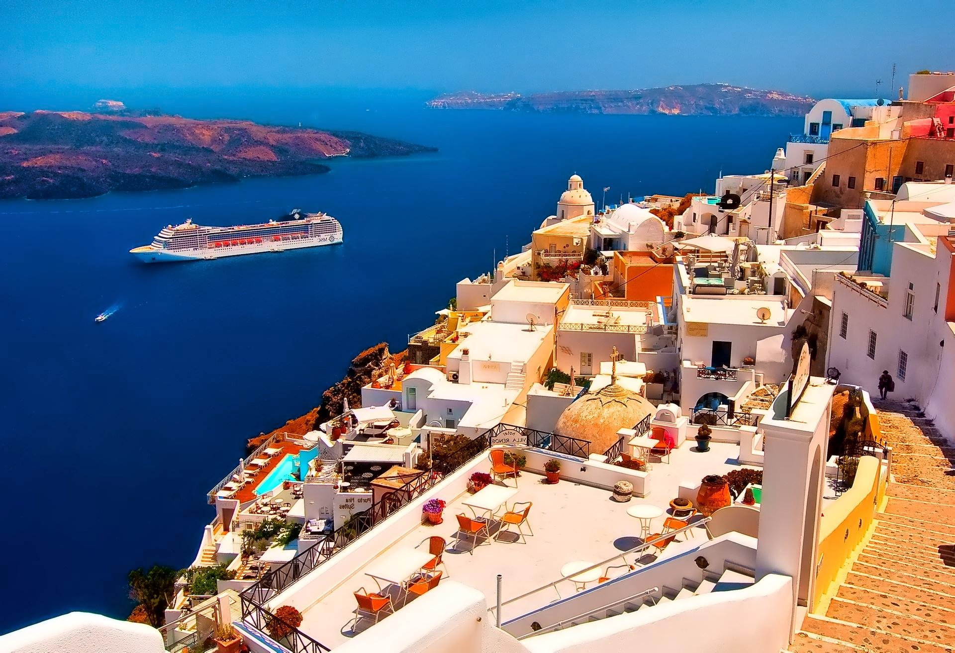 Santorini Greece Wallpaper Gallery Yopriceville   High Quality 1920x1313