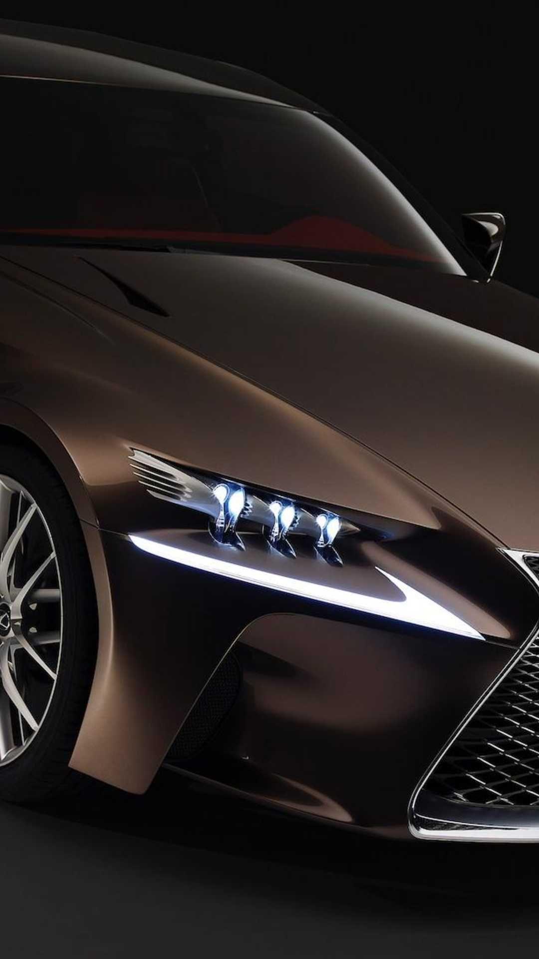 Wallpaper Download 1080x1920 Brown Lexus RX on the black 1080x1920
