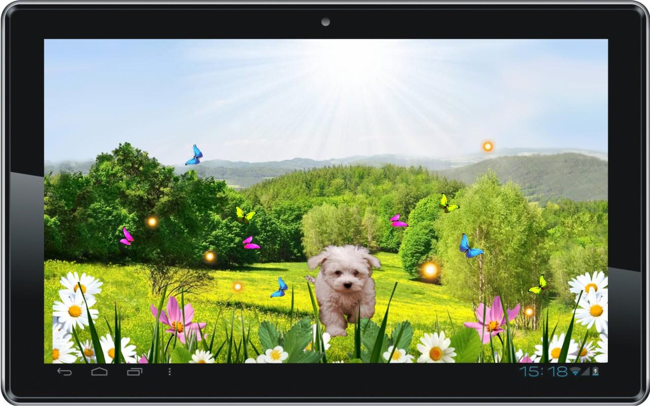 Spring Puppy live wallpaper   Android Apps on Google Play 1280x800