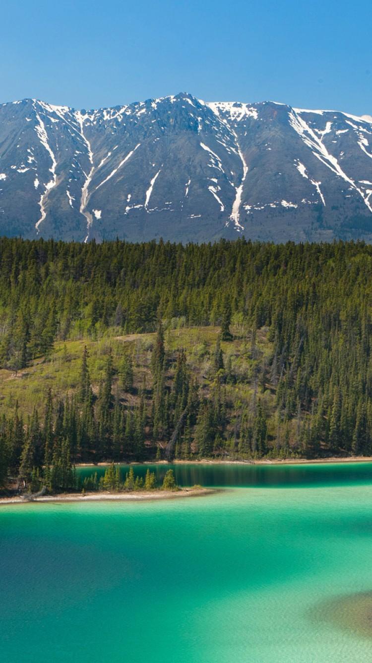 Emerald Lake Near Skagway Alaska iPhone 6   Wallpaper   ImgPrix 750x1334