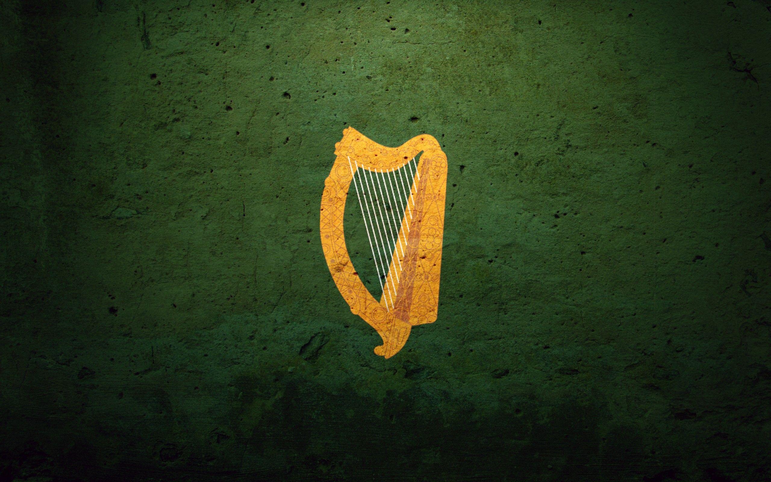 Ireland flags Coat of arms harp irish harp 2560x1600 Wallpaper 2560x1600