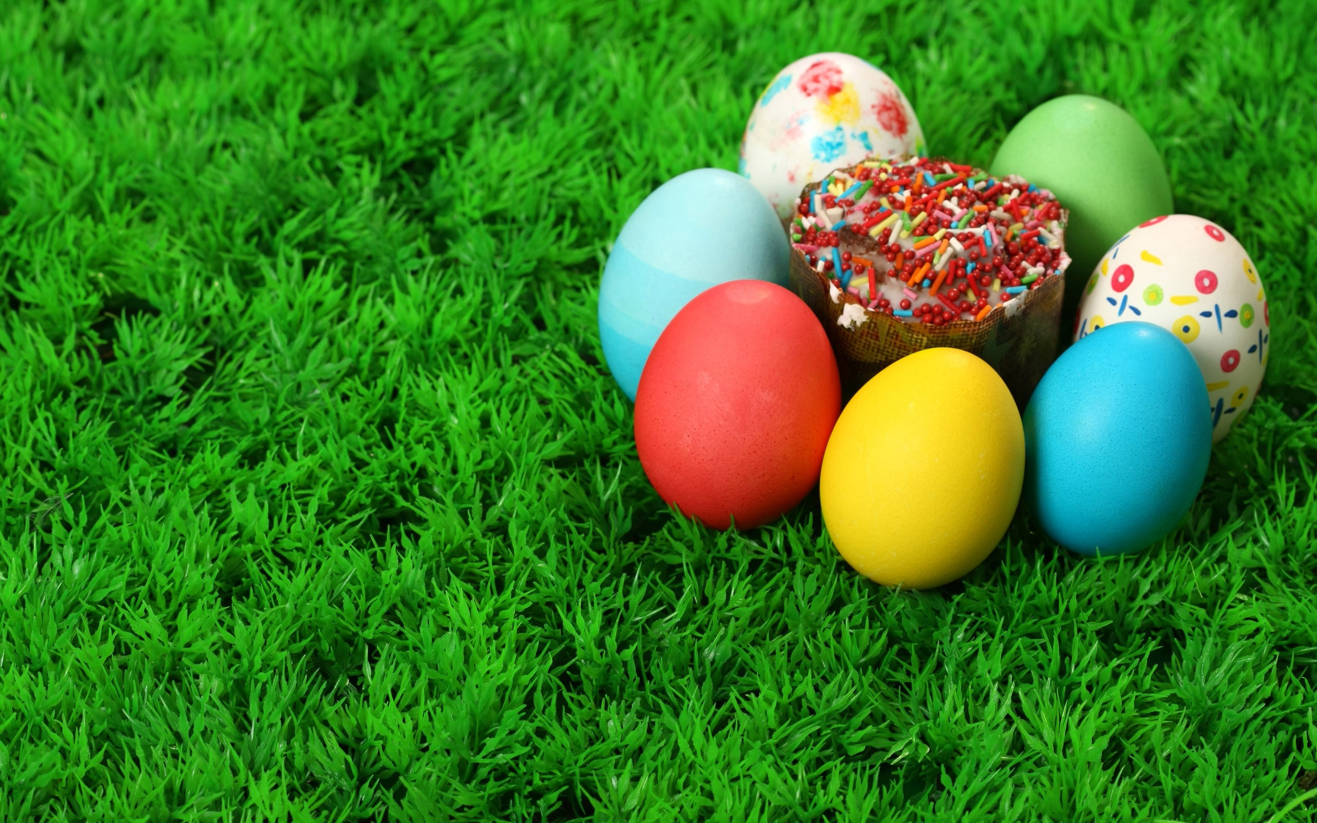 Download the Easter Egg Cupcake Wallpaper Easter Egg 2560x1600