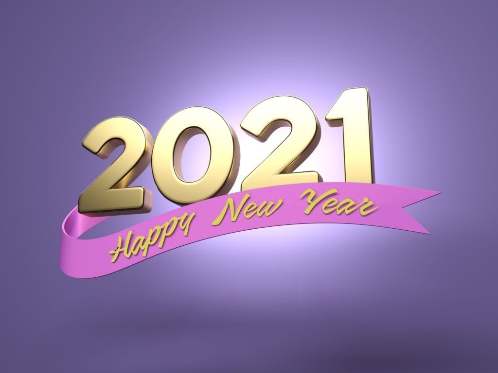Happy new year 2021 wallpaper 2021 images in 2020 New year 1024x768