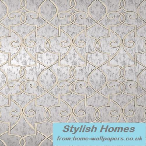 Thibaut Designer WallpaperGeometric Resource Grayden Metallic Silver 500x500