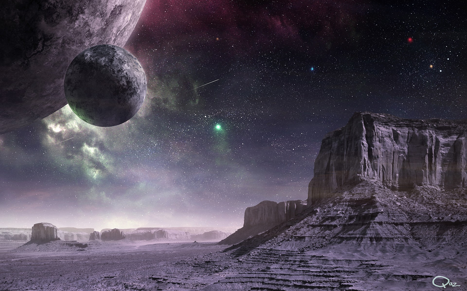 Science fiction art wallpaper wallpapersafari for Outer space landscape