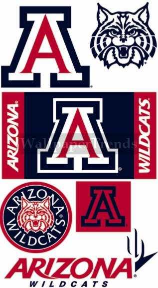 UA University of Arizona Wildcats Wall Decals Removable Wall Stickers 317x577