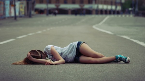 Sad alone girl on road hd wallpaper   Download HD WallpapersHappy 600x338