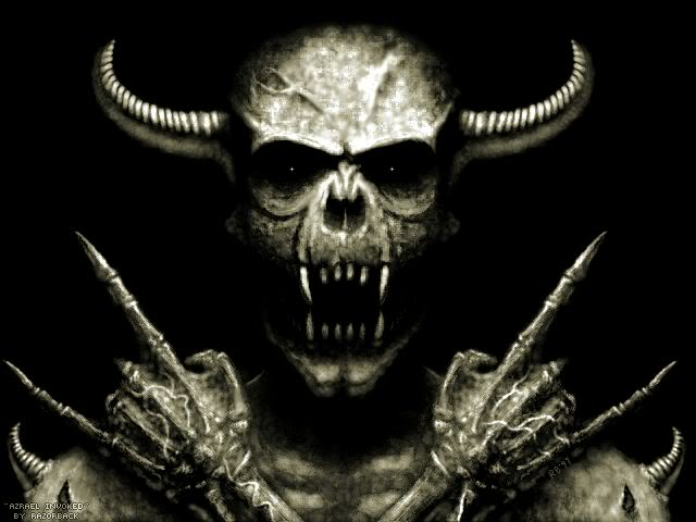 Rocken Out Demon Skeleton Wallpaper Rocken Out Demon Skeleton 640x480