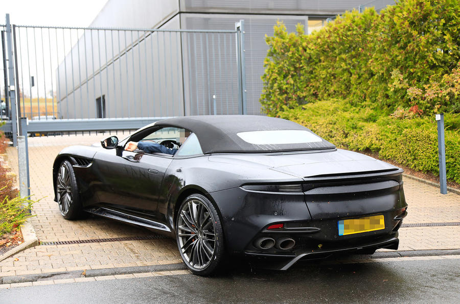 New Aston Martin DBS Superleggera Volante seen in production guise 900x596
