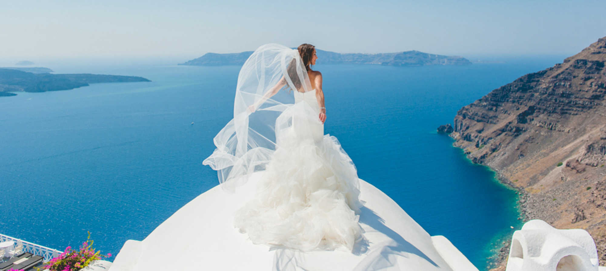 Santorini Wedding Wallpaper   traffic club 2000x894