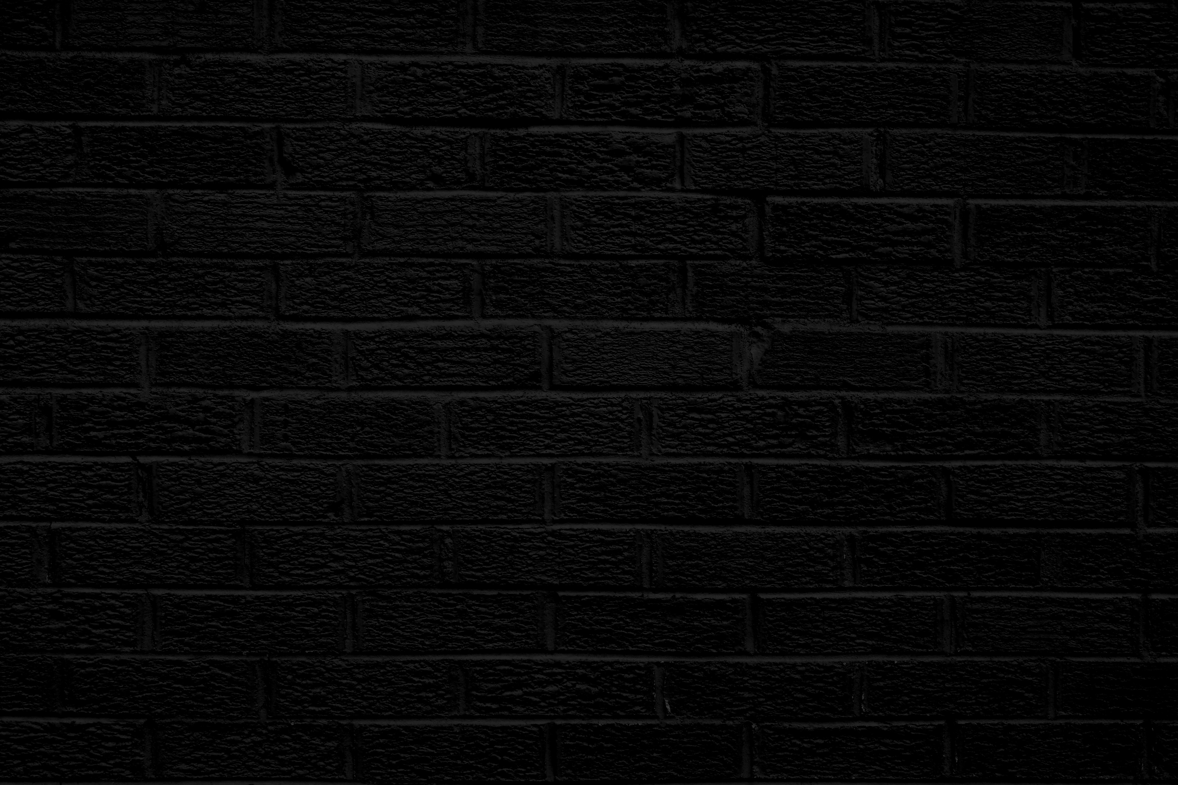 Black Brick Wall Texture High Resolution Photo Dimensions 3888x2592