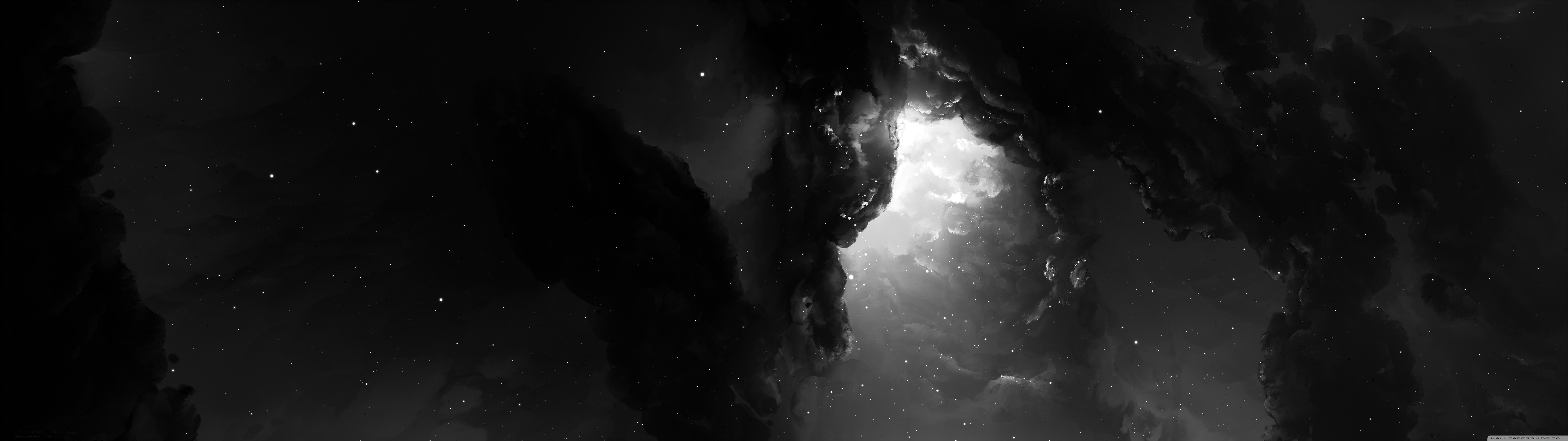Dual Monitor Nebula Wallpaper Full HD [7680x2160] - Free wallpaper ...