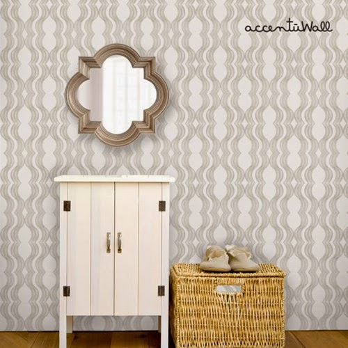 Wave Grey Peel and Stick Fabric Wallpaper 500x500