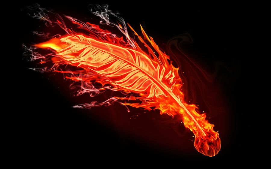Feather On Fire Fire feather by brent the claw on deviantART 900x563