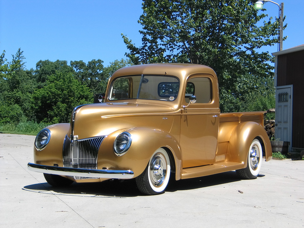 1940 Ford Pickup of George Poteet by FastLane Rod Shop   Front Angle 1024x768