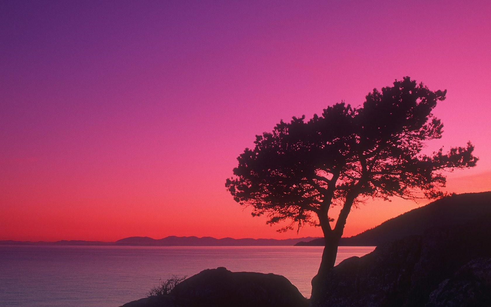 British Columbia colors Twilight Time of day wallpaper background 1680x1050