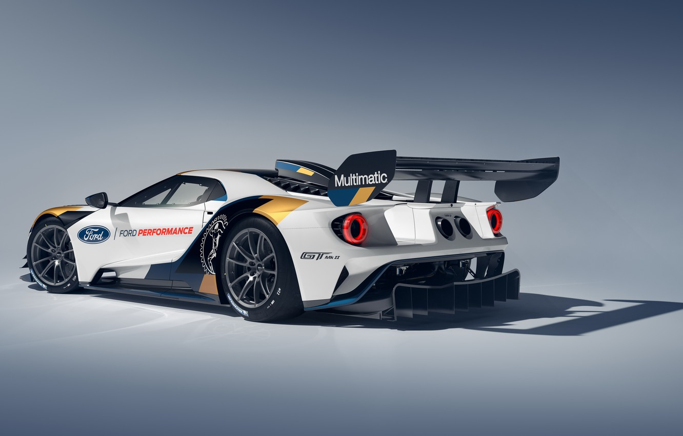 Wallpaper Ford Ford GT rear view Mk II 2019 images for desktop 1332x850