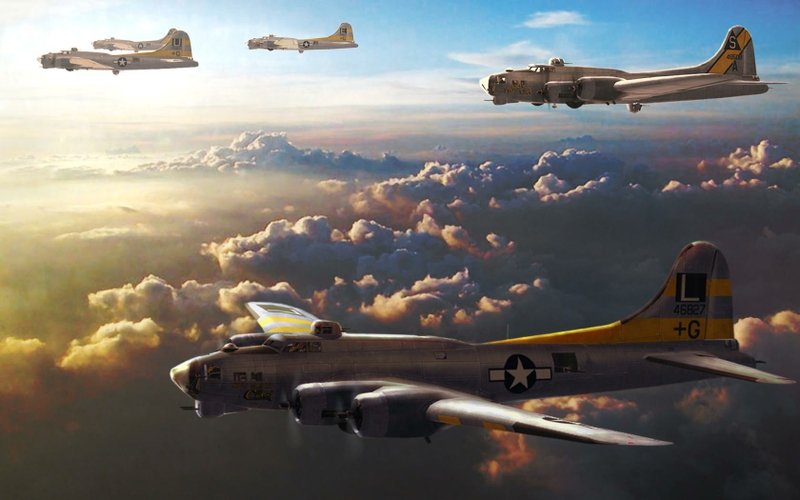 B 17 Flying Fortress Wallpaper B17 Wallpaper - Wallpa...