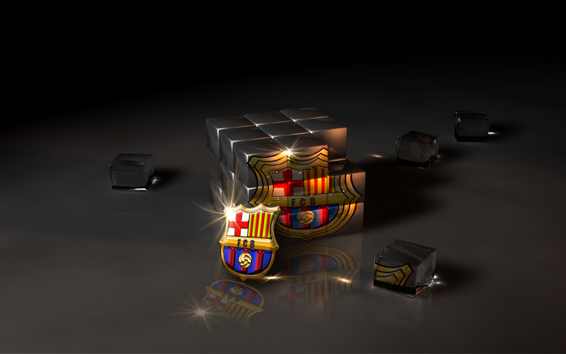 FC Barcelona Logo Wallpaper Download 1920x1200