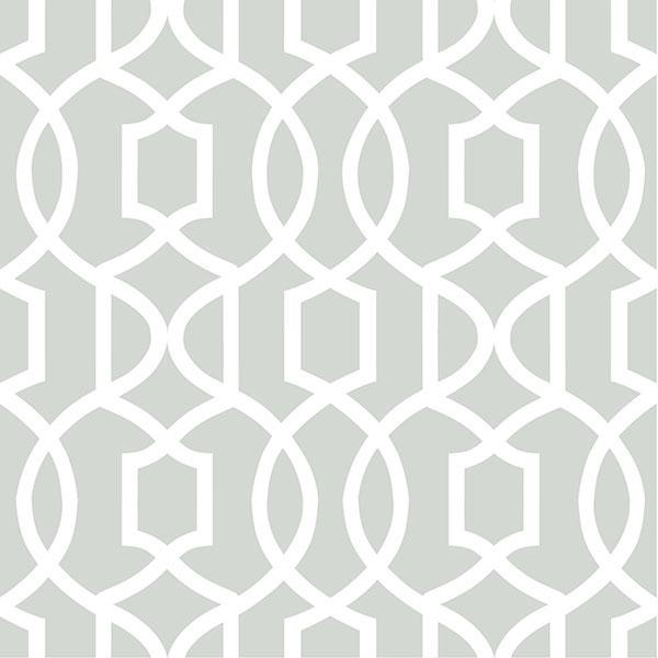 Gray Grand Trellis Peel And Stick Wallpaper by NuWallpaper 600x600